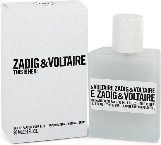 Zadig & Voltaire This Is Her 30 ml - Eau de Parfum - Damesparfum