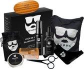 BAØRD Baard Verzorging Set Met Baardolie – Kam – Borstel – Schaar – Balsem – Baard Schort – Shampoo – Opbergtas – Giftbox