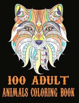 100 Adult Animals Coloring Book