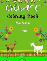 GOAT Coloring Book For Teens