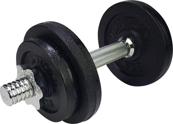 kaytan sports - dumbell - halter set - gewichten - 10 kg - 6 halterschijven 2 x 2 kg - 4 x 1 kg - 1 x halter 1.8 kg - inclusief trainingshandleiding - 10.3 kg