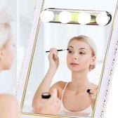 Chessna's® Deluxe Make Up Spiegelverlichting – met Zuignap - Hollywood Spiegel Lampen – Wit Licht – Led Lamp - Spiegellamp – Schilderijverlichting – Visagie Spiegel – Spiegel licht – Spiegel met Verlichting – Sfeerverlichting – Werkt op AA-Batterijen