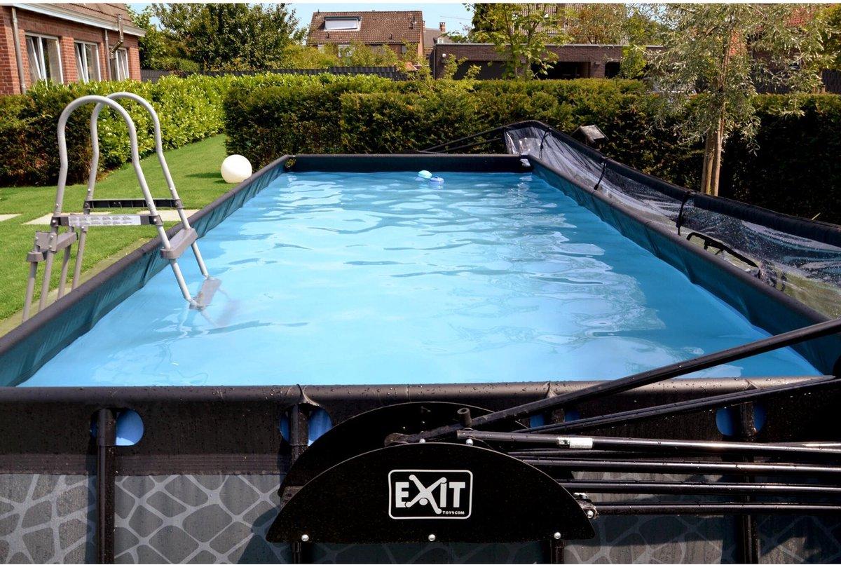 EXIT Wood zwembad 540x250x100cm met filterpomp - bruin