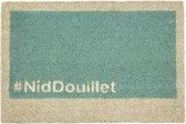 1x Coryl Deurmat kokos Geek | NidDouillet Blauw | 60x40cm| Buitenmat Antislip Schoonloopmat Kokosmat