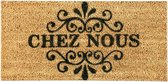 1x Coryl Deurmat Kokos Welcome | Chez Nous | 70x33cm| Buitenmat Antislip Schoonloopmat Kokosmat