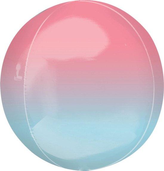 Amscan Folieballon Orbz 40 Cm Roze/blauw