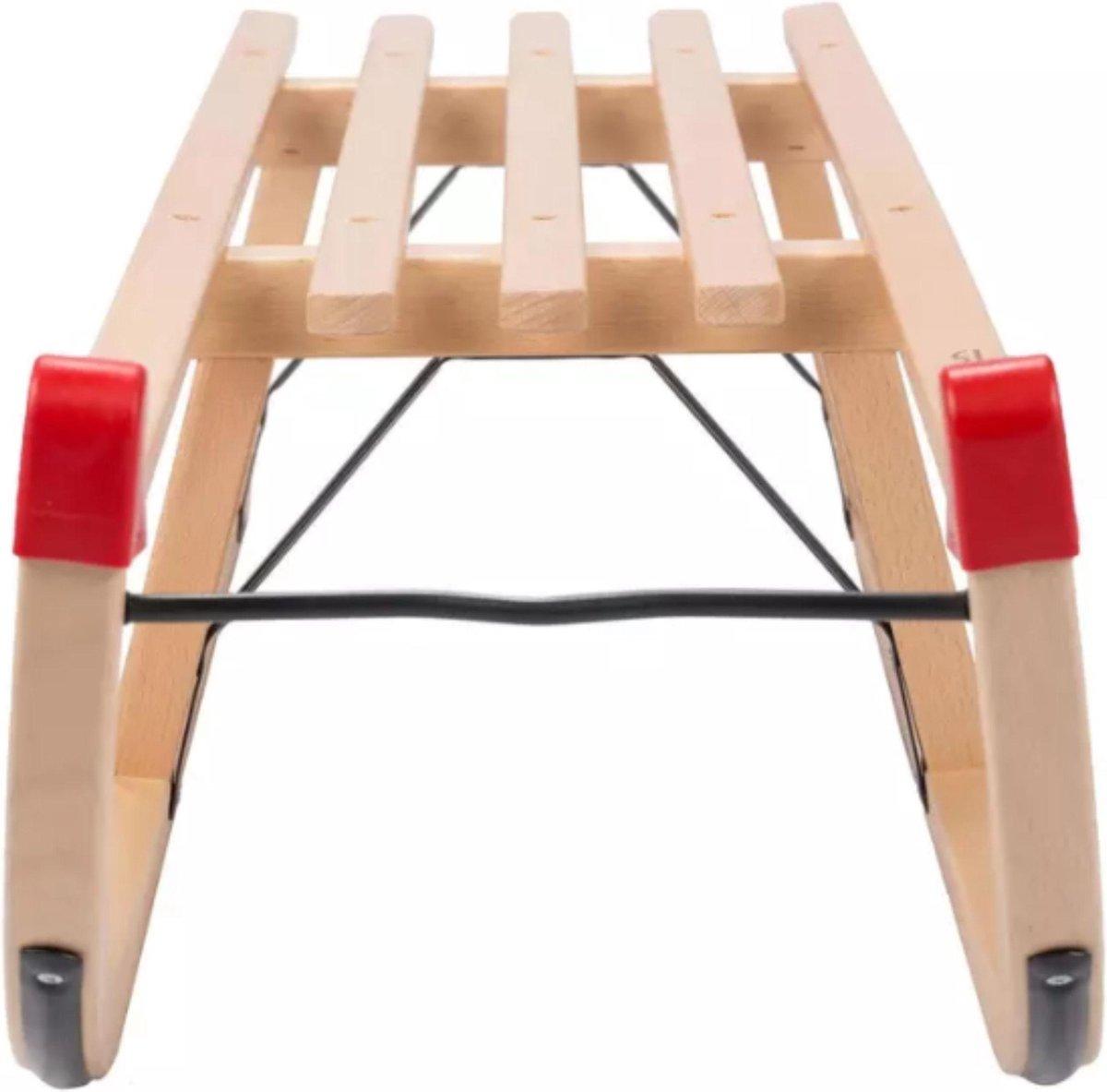 Houten slee 100 cm | sneeuw slee |Slee davos hout model