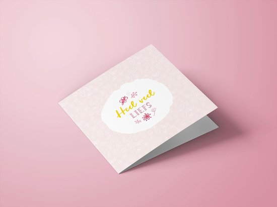 Wenskaarten liefde/vriendschap/zomaar - set van 6 dubbele kaarten - inclusief enveloppen