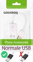 Audio USB audio adapter, geluidskaart, device geluid voor PC en laptop  e.d. geluidskaart