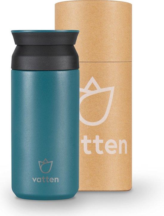 Vatten® Premium RVS Thermosbeker - Turquoise Blauw - 350ml - Koffiebeker To Go - Theebeker