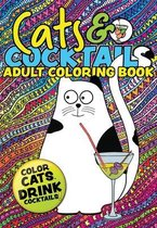 Cats & Cocktails Adult Coloring Book
