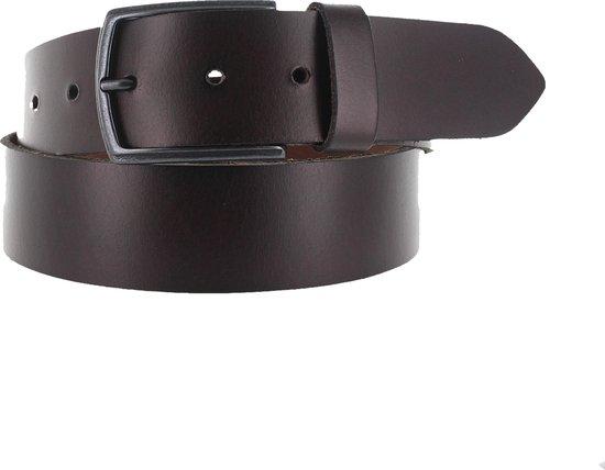 Leatherbelove – Lederen broekriem – Bruin – 85 cm