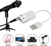 Externe USB Geluidskaart - 7.1 CH Audio Surround Sound Card Adapter - Audio Kaart Adapter - Geluidskaart Adapter - Professionele Geluidskaart - Microfoon en Koptelefoon naar USB Adapter- Plug&Play-Line Ingang & Aux Stereo Uitgang- PC