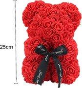 Rozen Teddy Beer 25 cm - Rose Bear - Rose Teddy - Liefde - Moederdag - Verjaardag - Valentijn Cadeau