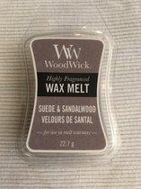 WoodWick mini wax melt Suede & Sandalwood - 3 stuks