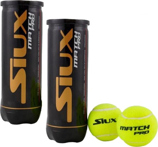 SIUX MATCH PRO Padel ballen - Padelballen uitermate geschikt voor buiten - 2...