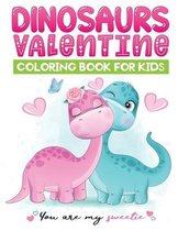 dinosaurs valentine coloring book for kids