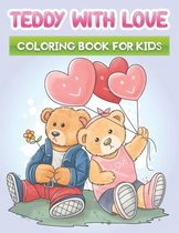 teddy with love coloring book for kids