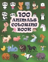 100 Animals Coloring Book