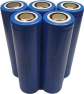 5 Stuks CHARGED - 18650 Batterij | Li-ion | 3,7 V | 2500 mAh