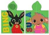 Bing Bunny en Sula poncho - 100% katoen - badponcho met capuchon