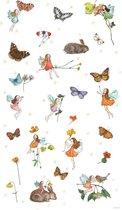 Poster Elfjes en vlinders - Hanneke de Jager - Multikleur - 80 x 140 cm - Fotoprint - art print - wanddecoratie - print