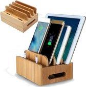 Bamboo B1 standaard oplaadstation voor op het bureau meerdere apparaten standhouder organizer voor smartphone / tablet. Universal multi device cord organizer,wordt gegarandeerd verstuurd binnen 1 a 2 dagen
