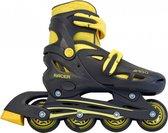 AMIGO Racer Inlineskates - Skeelers voor jongens en meisjes - Zwart/Geel - Maat 30-33