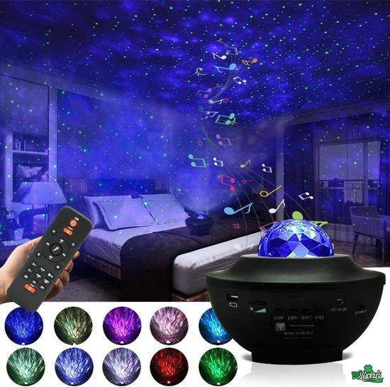 Sterren projector - Galaxy Projector - Sterrenhemel - Star Projector- Nachtlamp - Muziek Box - Bluetooth - USB - Zwart