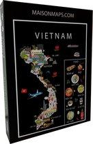 Puzzel van Vietnam   1000 stukjes   68x48 cm   Familiepuzzel   Jigsaw   Legpuzzel   Maison Maps