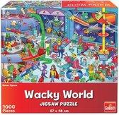 Goliath Wacky World Puzzel Outerspace 1000 Stukjes