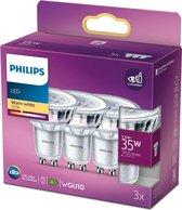 Philips LED Lamp Lichtbron - GU10 - 3,5W - 3 stuks
