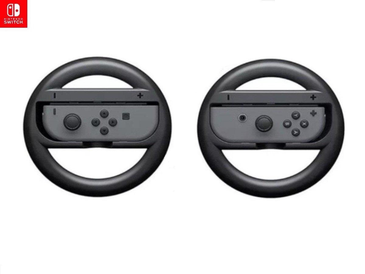 Nintendo Race Wiel Set  - Nintendo Switch Accessoires - Racestuur - Zwart