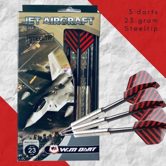 Afbeelding van het spel 1 Set 3st JET AIRCRAFT Silver Barrel Dart 23 gram Steeltip – Dartset - Dartpijlen - Darts pijlen - Darts flights – Darts Shafts - Dartboard game – Needle - Accessories
