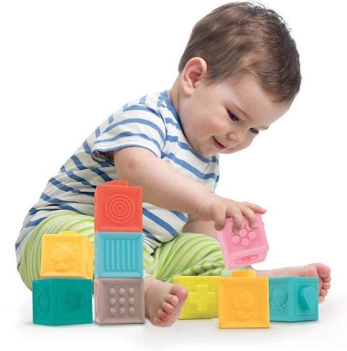 Blokken Set - LUDI Baby - Zachte Babyblokken met Ribbel Textuur