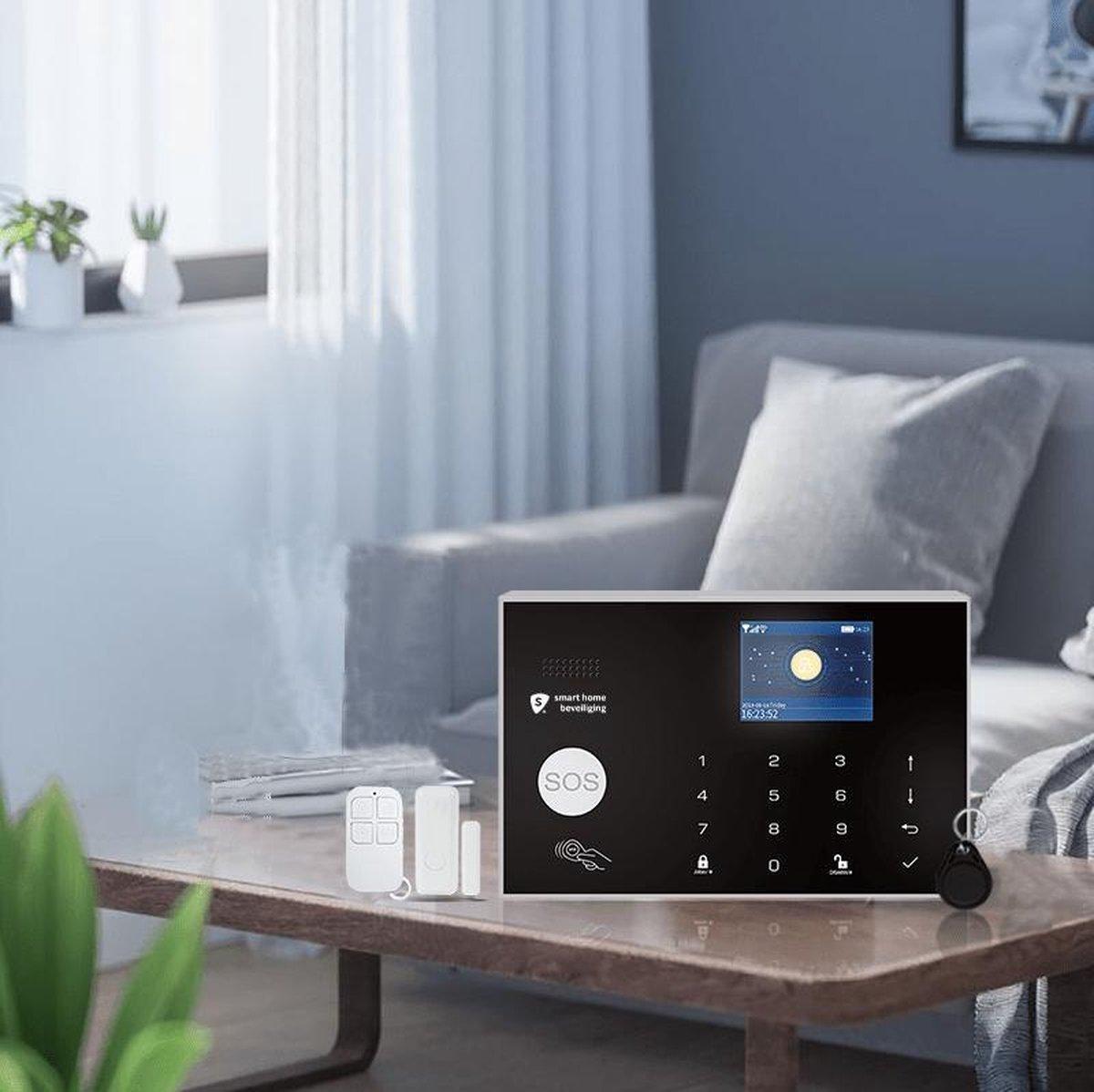 Alarmhub 2 start alarmsysteem - keypad - uitbreidbaar- thuis modus - wifi - Sirene - Melding op app - SMS, GSM en SIM kaart - Back up batterij - Smart Home Beveiliging