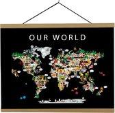 Kaart van de Wereld   B2 poster   70x50 cm   Maison Maps