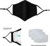 Afbeelding van YourMaxs Wasbaar mondkapje - 3 Laags protectie - Zwart