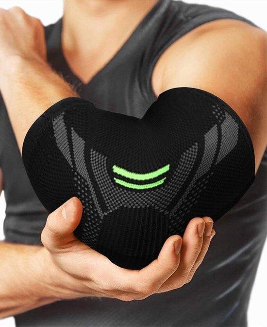 Medicca - Elastische Elleboogbrace - Ondersteunende Berscherming voor Elleboog - Drukverminderaar Elleboog - Elleboogbandage