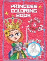 Princess Coloring Book For Girls 5 Years Old