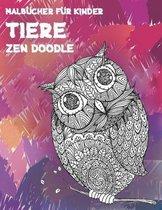 Zen Doodle - Malbucher fur Kinder - Tiere