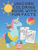 Unicorn coloring book with fun facts-