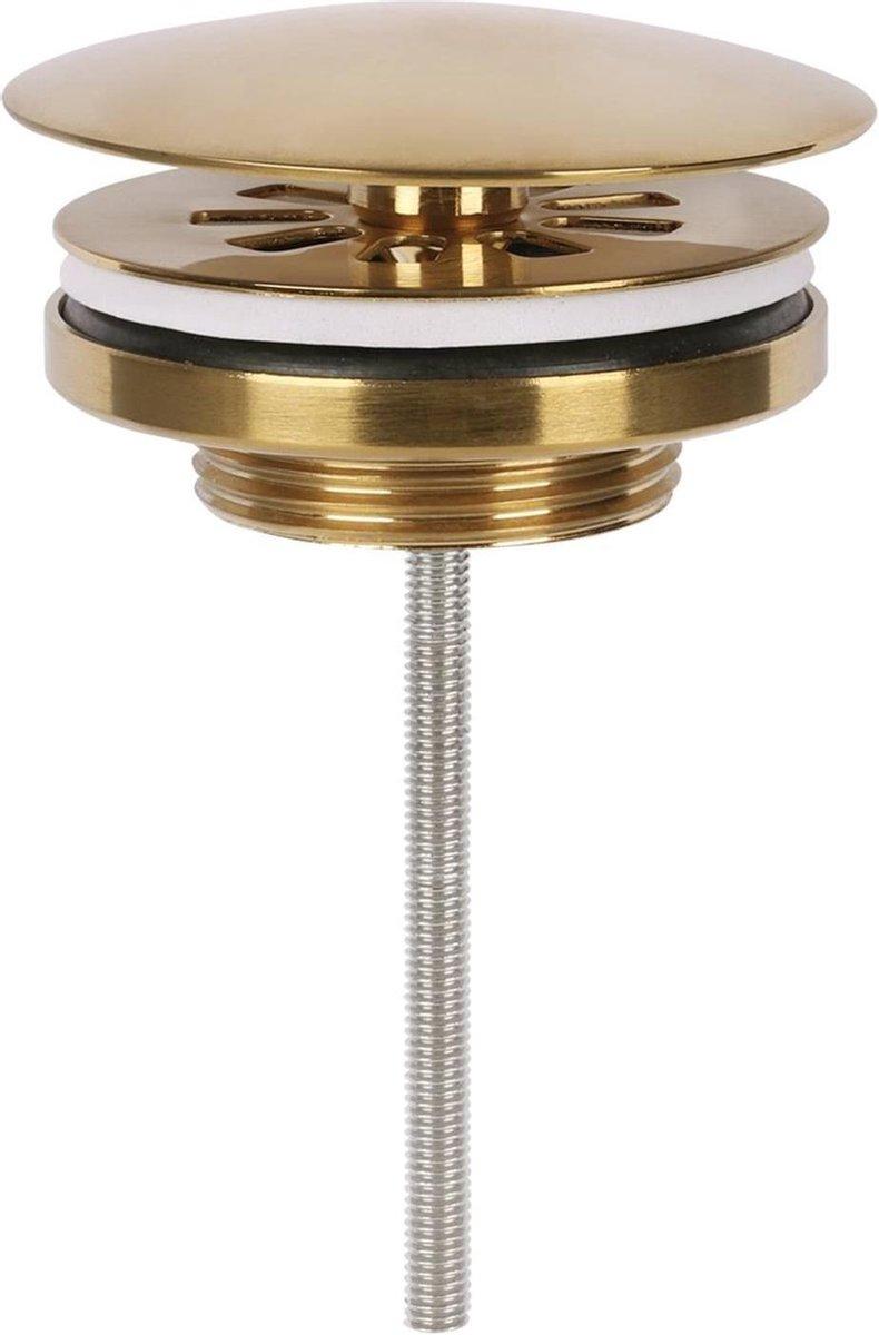 Differnz afvoerplug - always open - mat goud