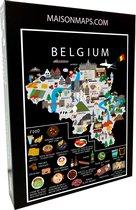 Puzzel van België   1000 stukjes   68x48 cm   Familiepuzzel   Jigsaw   Legpuzzel   Maison Maps