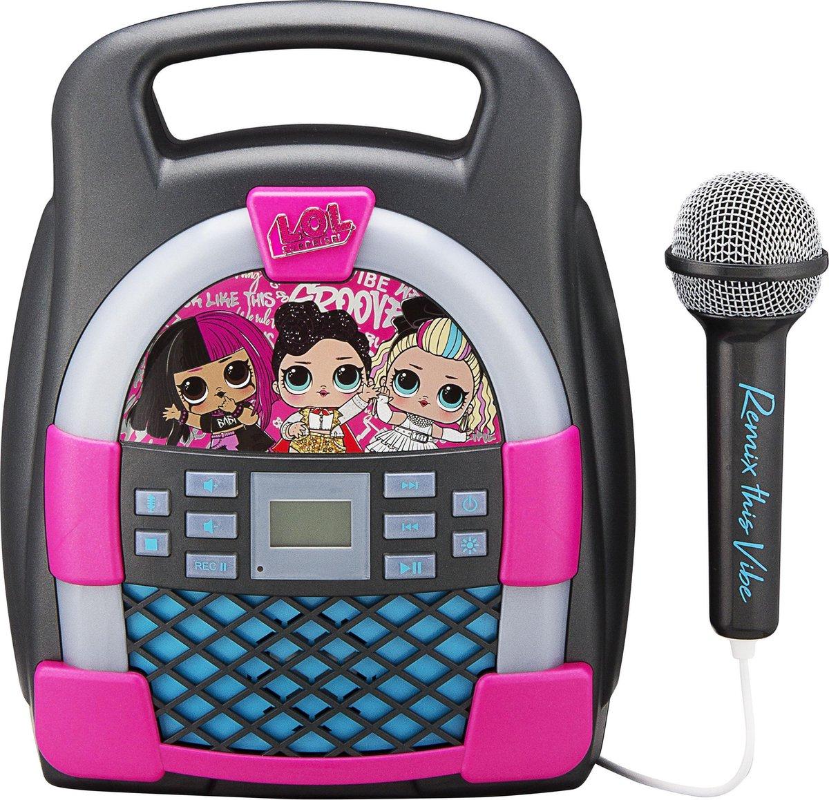L.O.L. Suprise MP3 Karaokeset met licht show en bluetooth  LL-553