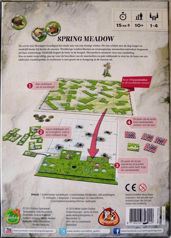Thumbnail van een extra afbeelding van het spel Spring Meadow - Snel Puzzelspel in de Alpen - Bergwandeling met Schattige Marmotten - Familiespel - Rustgevend Puzzelen - Tetris Stijl - Uwe Rosenberg Trilogie - Vervolg op Patchwork