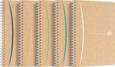 Oxford Touareg - spiraalblok - A5 - gelijnd - 90 vel - 90g - soepele kartonnen kaft - assorti