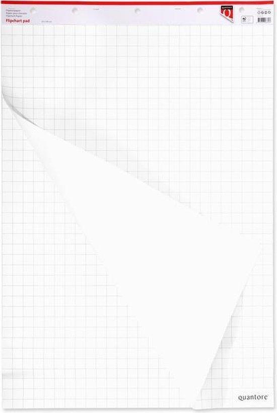 Afbeelding van Flipoverpapier Quantore 65x98cm 2x 50vel ongevouwen (set 2 blokken)