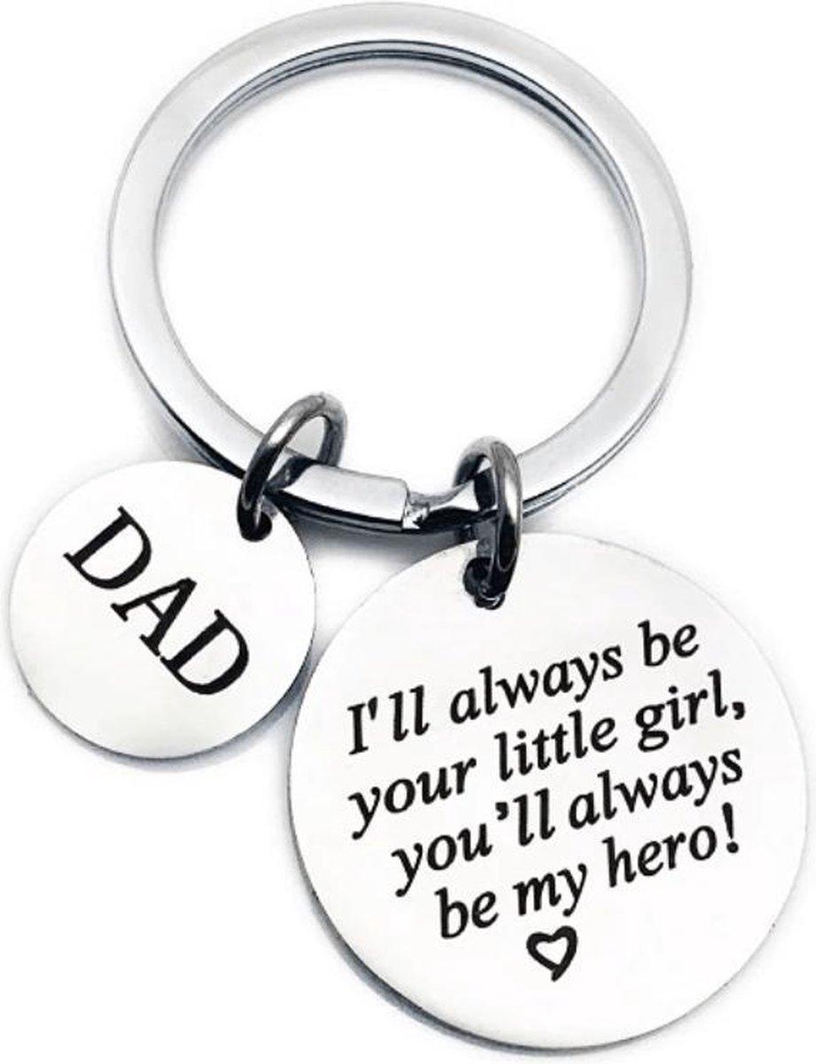 Sleutelhanger voor vader - vaderdag kados - cadeau - van dochter kado -  liefste papa geschenk - I'l