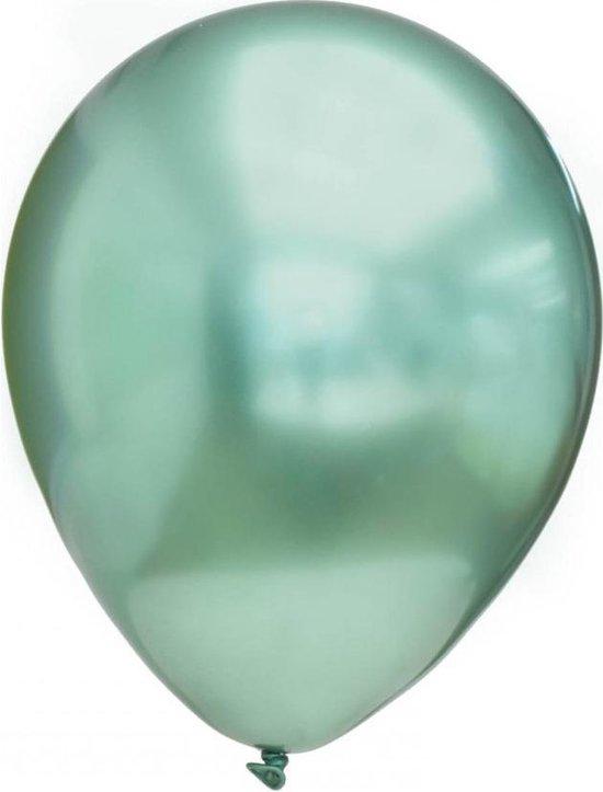 15 x Ballonnen Chrome Goud | Helium Ballonnen Chrome Groen Green - 23 cm